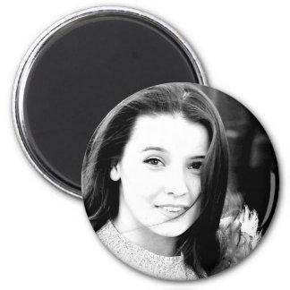 """Best photo art popular girl model mot beautiful "" 2 Inch Round Magnet"