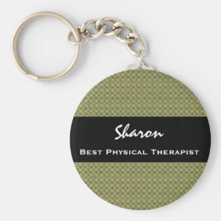 Best PHYSICAL THERAPIST Clay Square Pattern Keychain