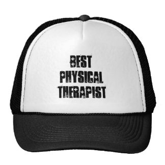 Best Physical Therapist Muted Green Polka Dots Trucker Hat