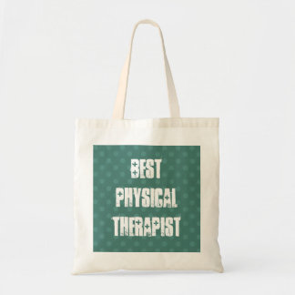 Best Physical Therapist Muted Green Polka Dots Tote Bag