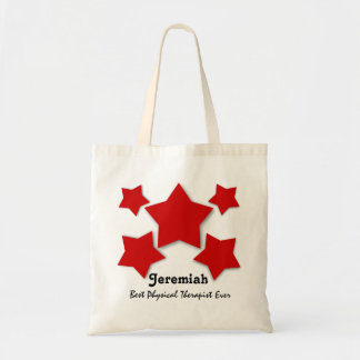 Best PHYSICAL THERAPIST Red 3D Look Stars W05D2 Tote Bag