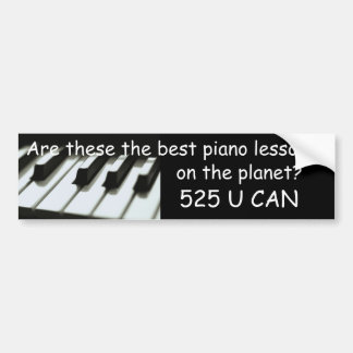 Best piano lessons bumper sticker