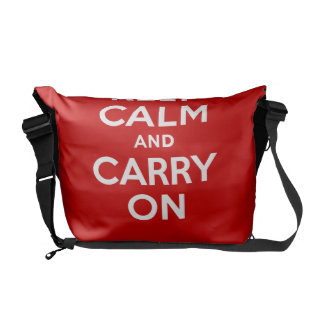 Best Price Authentic Keep Calm And Carry On Red Courier Bag