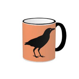 Best Price Crow Orange and Black Halloween Mug