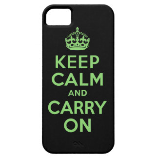 Best Price Keep Calm And Carry On Green and Black iPhone 5 Cases
