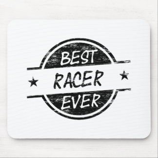Best Racer Ever Black Mouse Pad