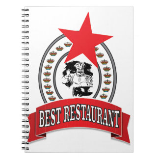 best red restaurant star notebooks