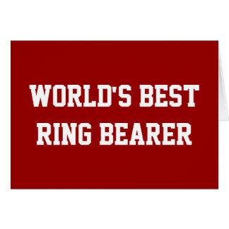 Best Ring Bearer red Cards