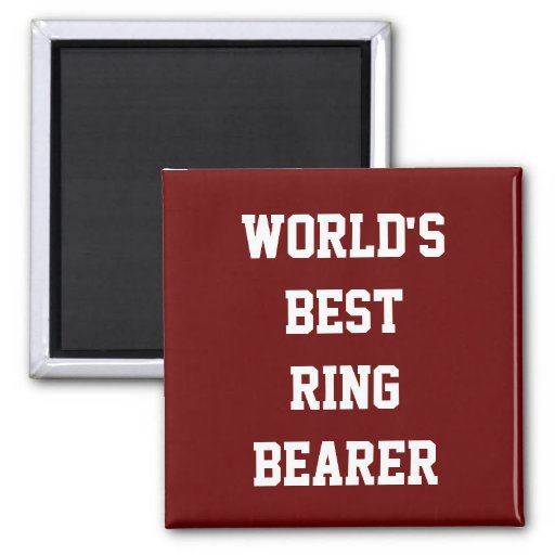 Best Ring Bearer (red) Magnets