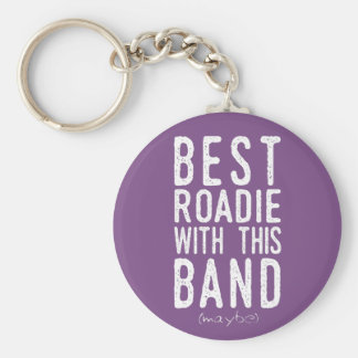 Best Roadie (maybe) (wht) Keychain