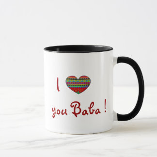 BEST SELLER I Love You Baba With All My Heart Mug