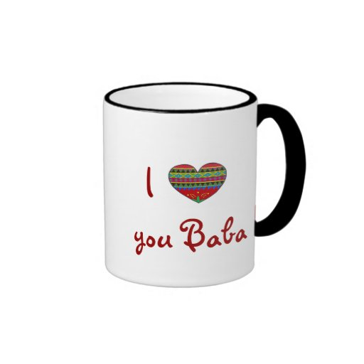 BEST SELLER I Love You Baba With All My Heart Coffee Mugs