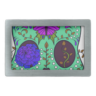 Best Seller Sugar Skull Rectangular Belt Buckle