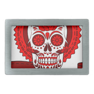 Best Seller Sugar Skull Rectangular Belt Buckles