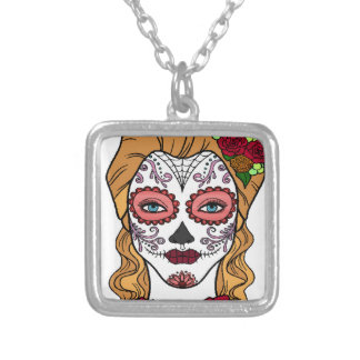 Best Seller Sugar Skull Silver Plated Necklace