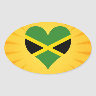 Best Selling Cute Jamaica Oval Sticker