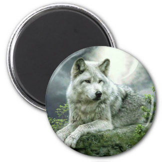 Best Selling Imaginative Wolf Art Illustration Pai 2 Inch Round Magnet