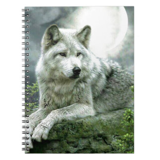Best Selling Imaginative Wolf Art Illustration Pai Spiral Notebook