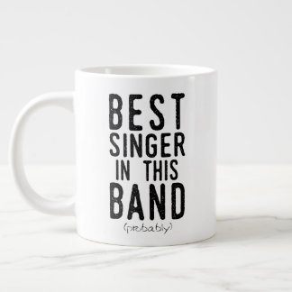 Best Singer (probably) (blk) Large Coffee Mug
