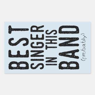 Best Singer (probably) (blk) Sticker
