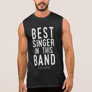 Best Singer (probably) (wht) Sleeveless Shirt