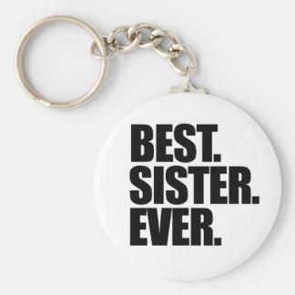 Best Sister Ever Basic Round Button Keychain