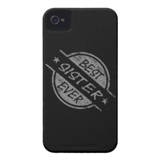 Best Sister Ever Gray iPhone 4 Case-Mate Case