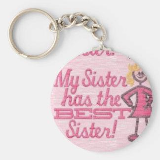 best sister humor key chain