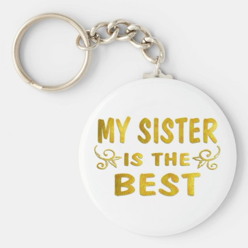 Best Sister Keychain