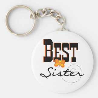 Best Sister T-shirts and Gifts Basic Round Button Keychain