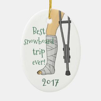 Best snowboard trip ever! ceramic ornament