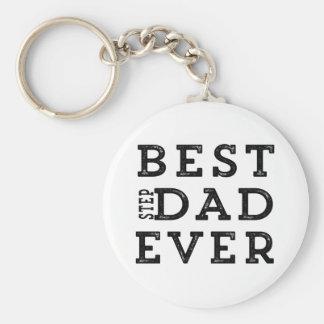 Best Step Dad Ever Keychain