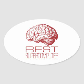 Best Supercomputer Oval Sticker