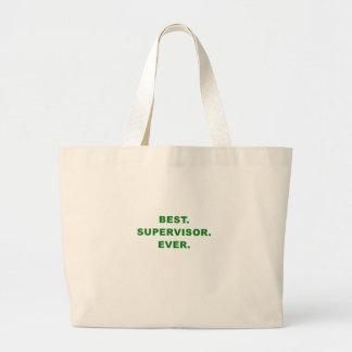 Best Supervisor Ever Large Tote Bag