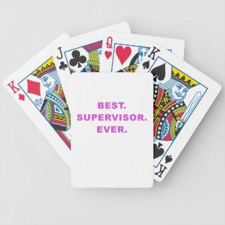 Best Supervisor Ever Poker Deck