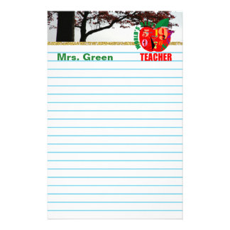 Fall lined paper