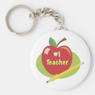 Best Teacher Basic Round Button Keychain