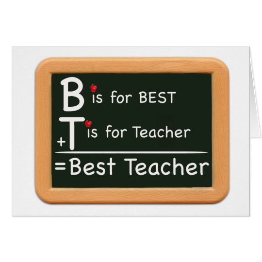 best teacher card