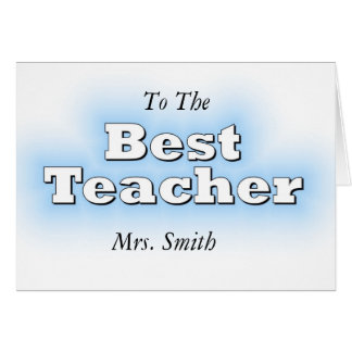 Best Teacher Card
