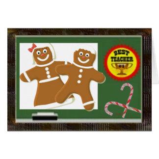 Best Teacher Christmas Greeting Card