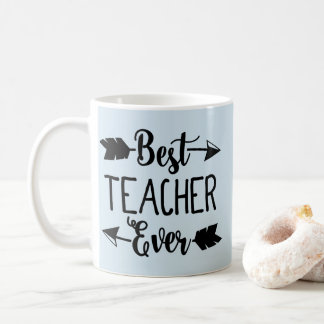 Best Teacher Ever Black Teacher Arrow Teacher Mug