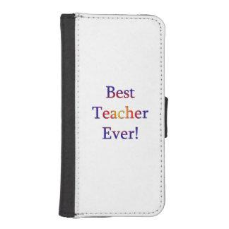 Best Teacher Ever iPhone SE/5/5s Wallet Case