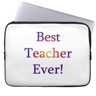 Best Teacher Ever Laptop Sleeve