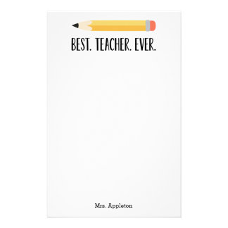 Best Teacher Ever | Personalized Stationery Gift