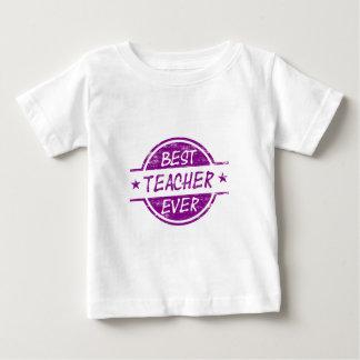 Best Teacher Ever Purple Baby T-Shirt