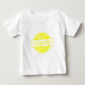 Best Teacher Ever Yellow Baby T-Shirt