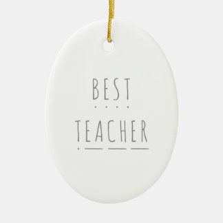 Best Teacher Phonics Ceramic Christmas Decoration