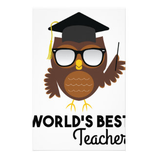 Best Teacher Stationery Design