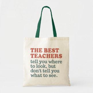 BEST TEACHERS tote bags