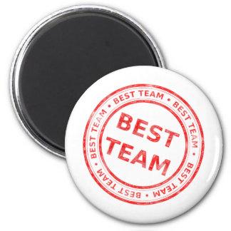 Best Team stamp - prize, first, champion,trophy 2 Inch Round Magnet